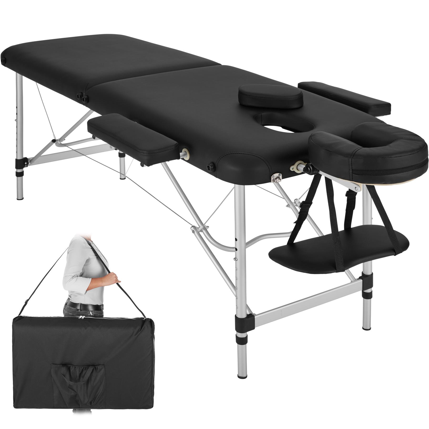 Łóżko stół do masażu 2 strefy alu 402786