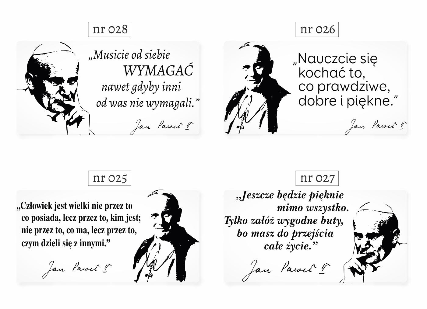 Naklejki Cytaty ścienne Na ścianę Napisy Jan Paweł