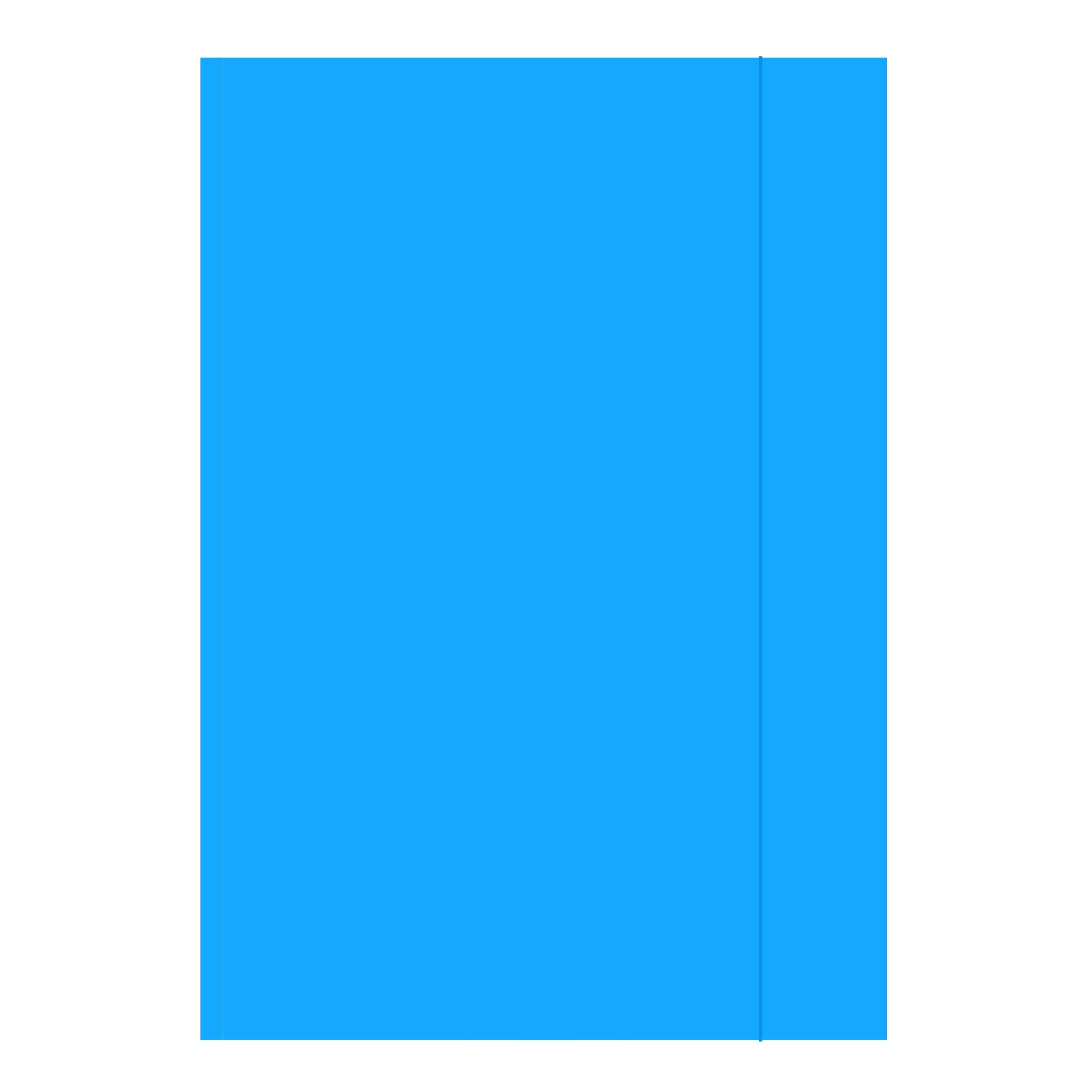 Item Folder with elastic eraser, A4, 320 g light blue