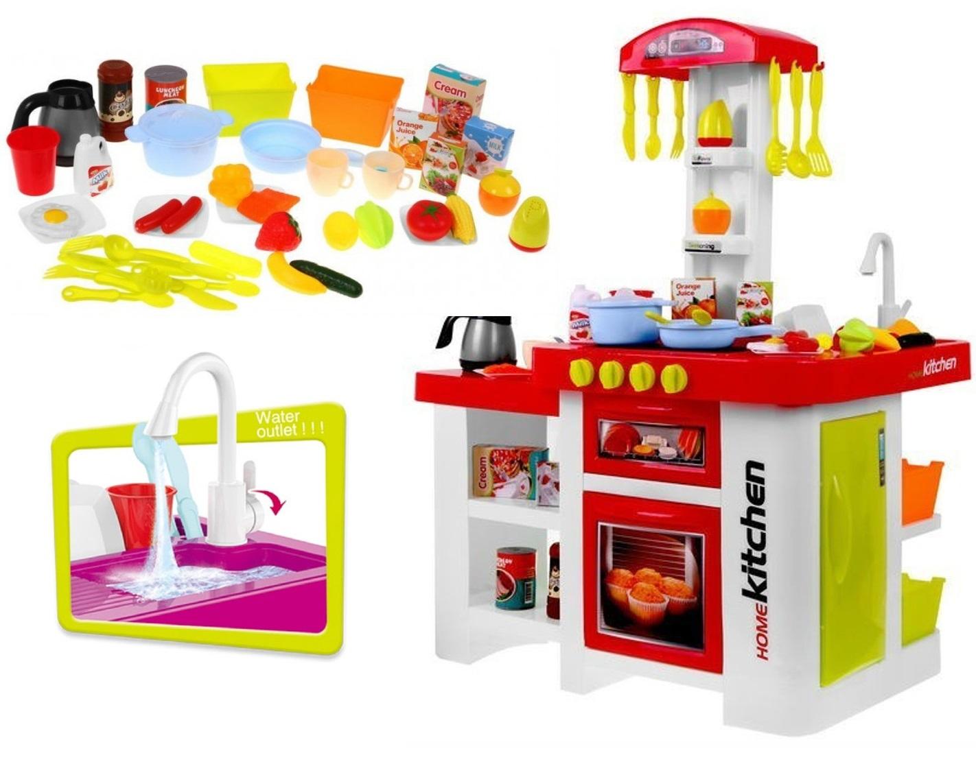 Kuchnia Dla Dzieci Duza Kuchenka Kran Woda Dzwiek 7187490797