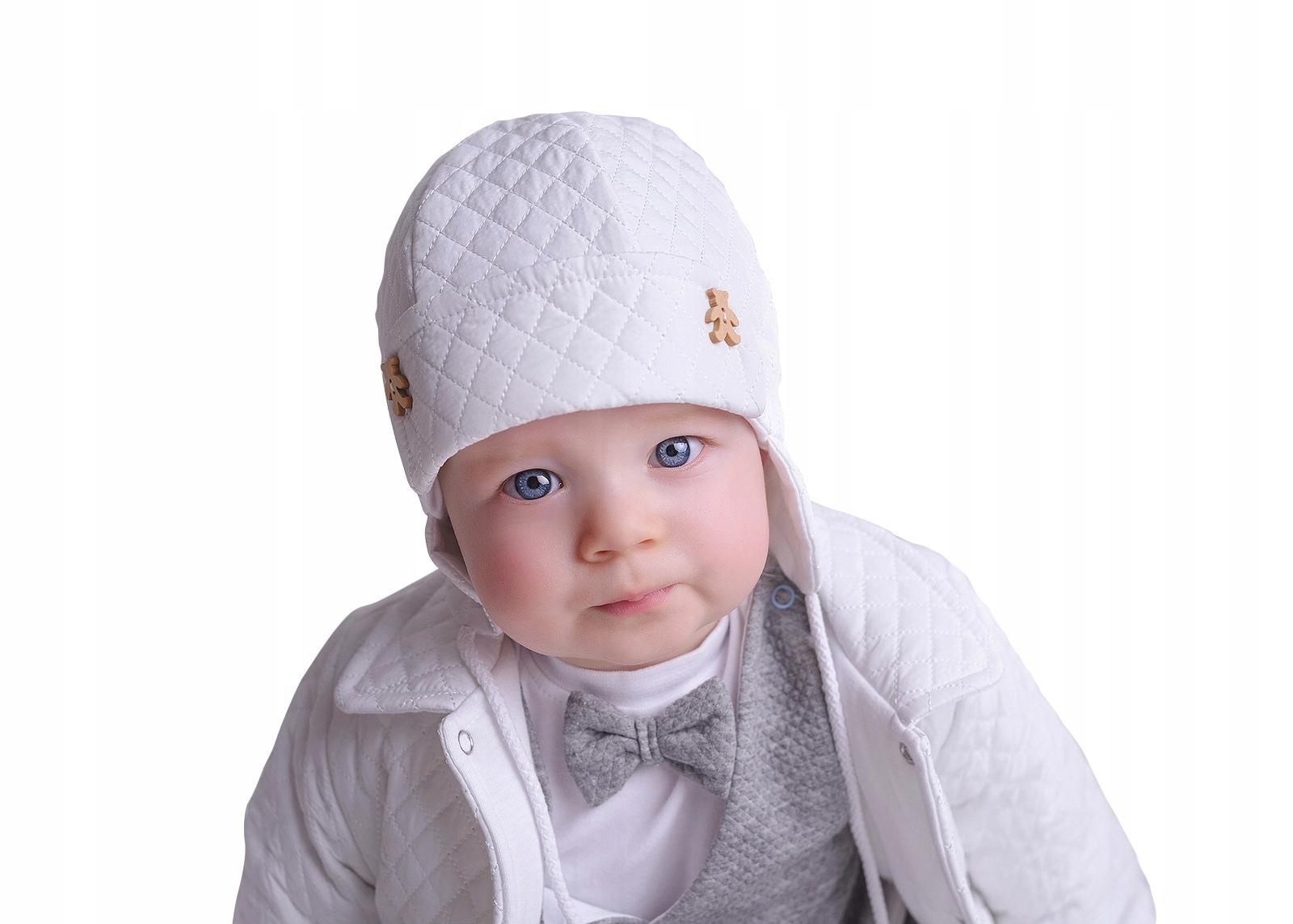 e23c3103b39ad0 Czapka czapeczka pikowana dla chłopca Arek 44/46 - 7542864483 ...