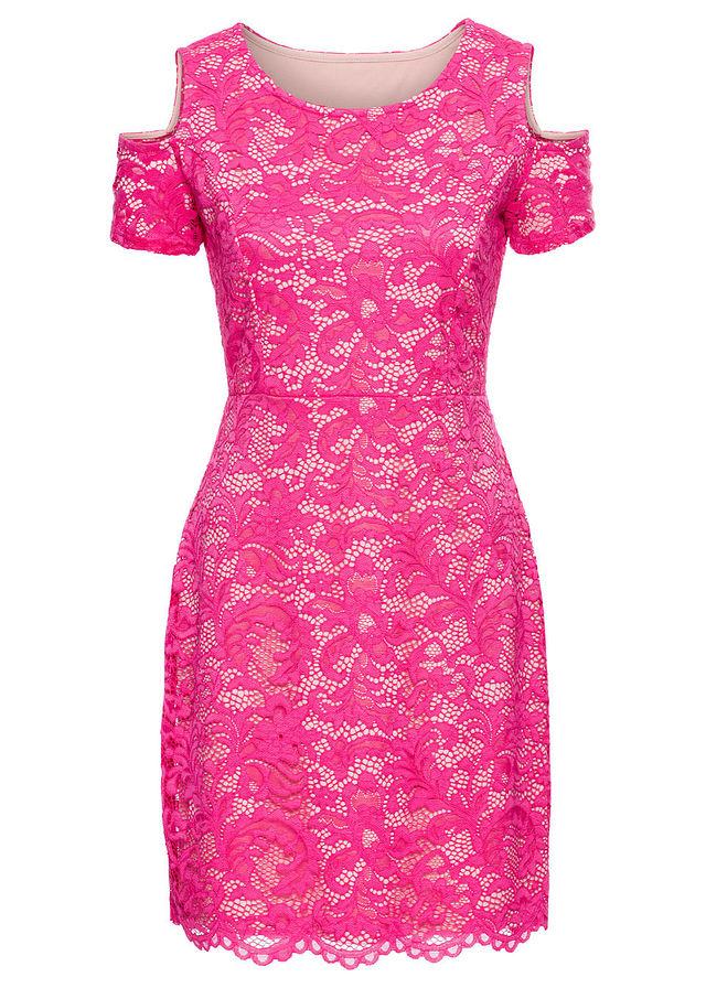 459a705ecf Sukienka koronkowa różowy 40 42 L XL 955908 - 7310230494 ...