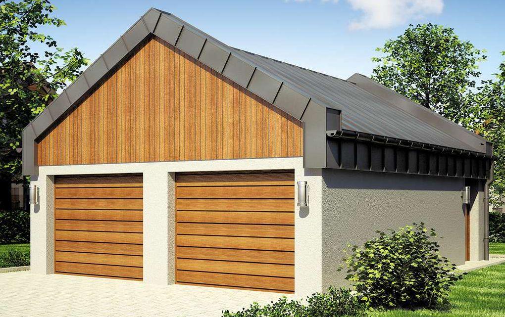 Projekt Garażu 2 Stanowiskowego Z Warsztacikiem 7327137179