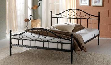 Białe łóżko Antyk Kute Metalowe Stelaż 180x200