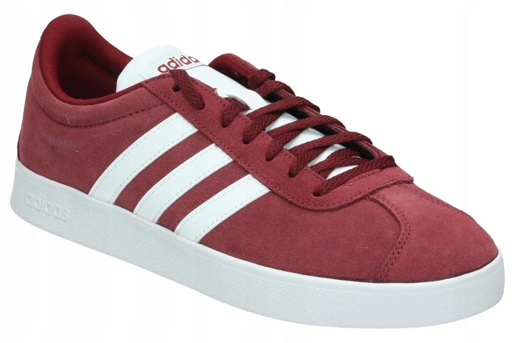 Buty Adidas VL COURT 2.0 Bordowe zamsz