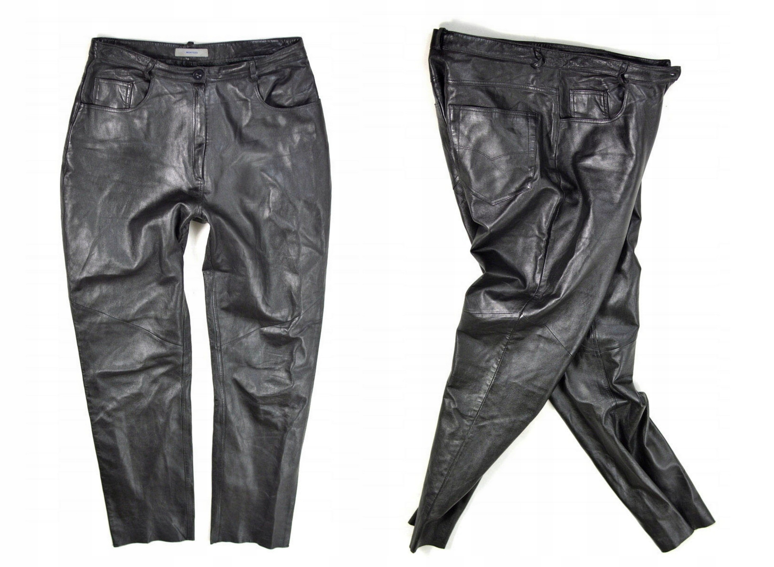 6c5a7a146607a Spodnie skórzane MONTEGO czarne skóra 40 L - 7697688734 - oficjalne ...