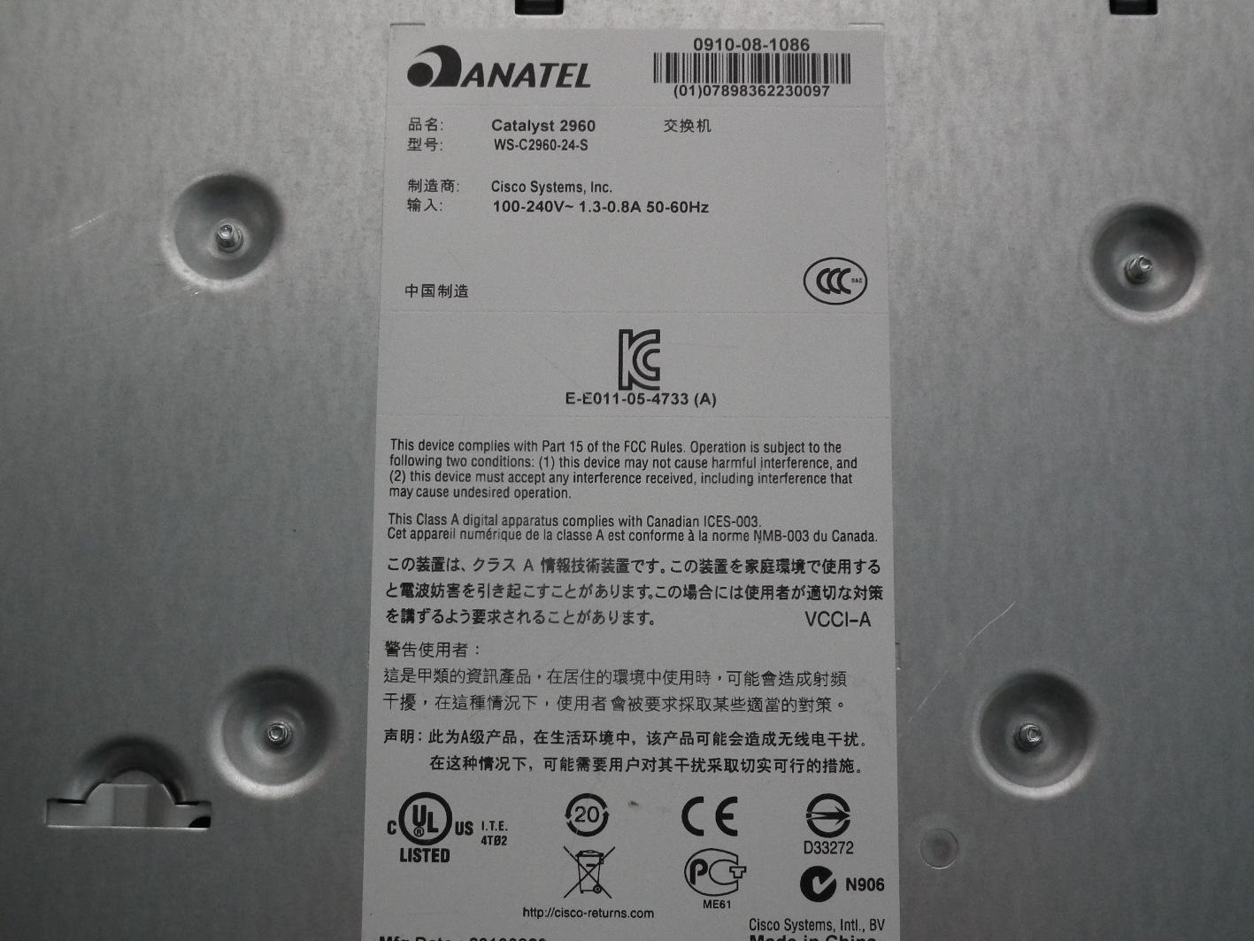 CISCO Catalyst 2960 Series SI WS-C2960-24-S - 7295248264