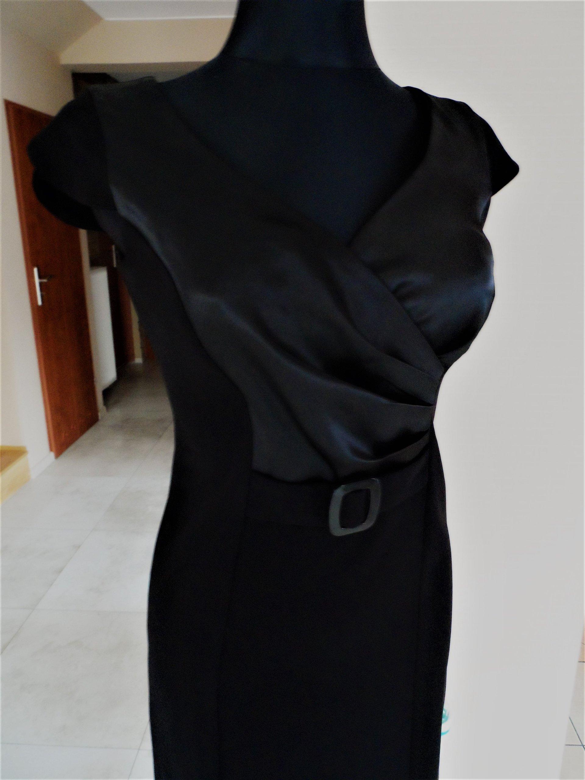 3f88d049fd DAWO Wizytowa sukienka CZARNA elegancka ok. S M - 7225195412 ...