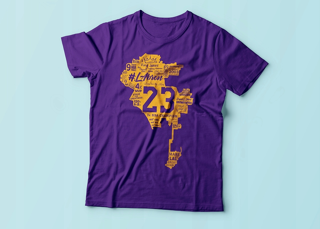 T-Shirt Lebron James #LAbron 2018 Fioletowa L