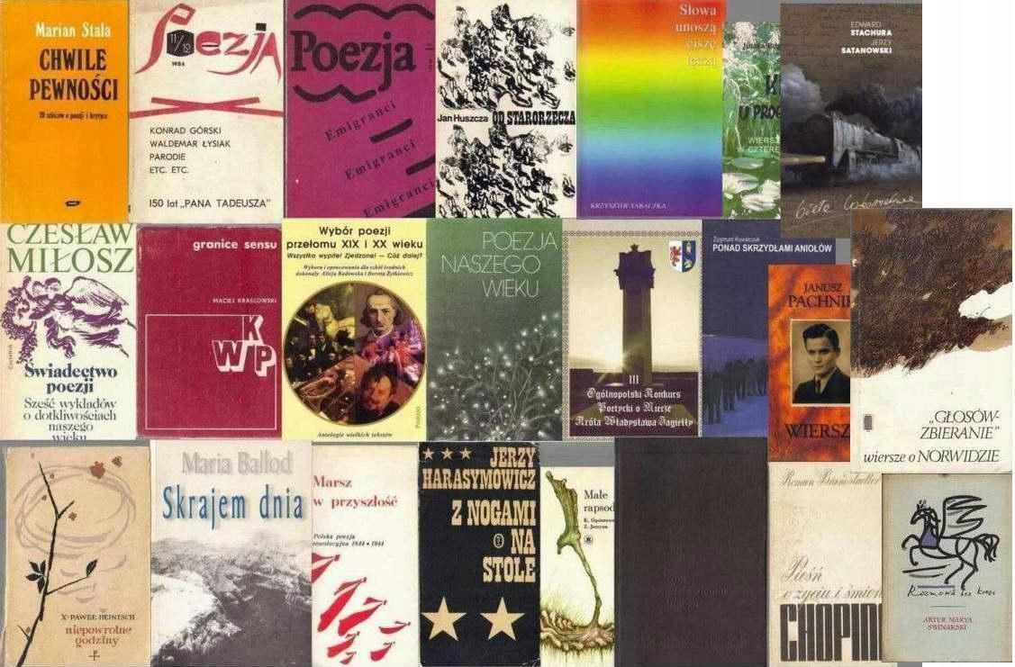 Poezja Duży Zestaw 7432621611 Oficjalne Archiwum Allegro