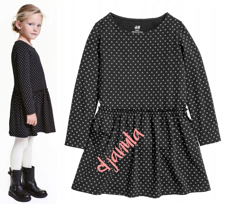 85362a2fe2 H M śliczna dżersejowa sukienka TANIO - 7567694714 - oficjalne ...