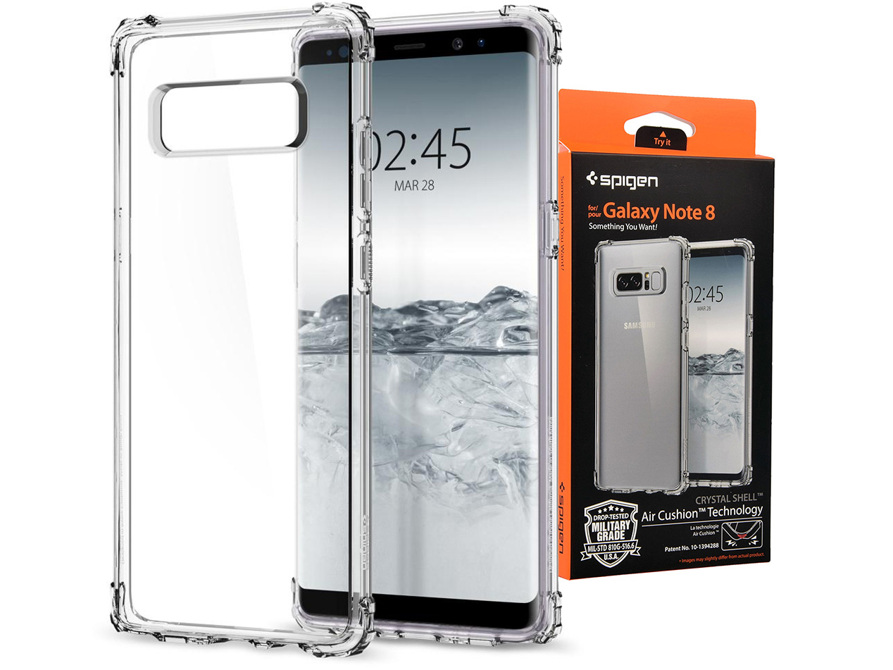 Spigen Crystal Shell Etui Cover Galaxy Note 8 7066134979 Hybrid Case For
