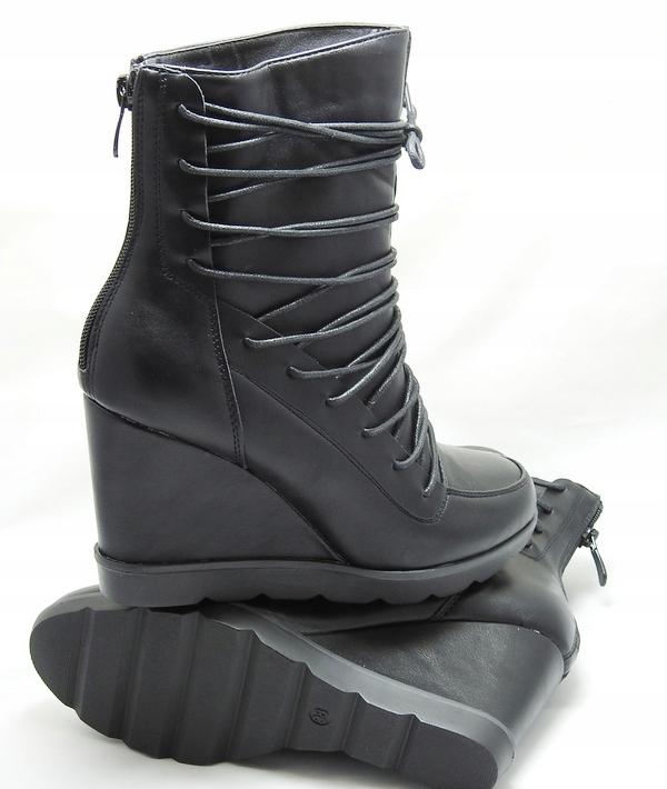 e76fe55be129e Sneakersy Koturn 7023229092 Roz Sznurowane Botki Damskie 40 rUHxYqr