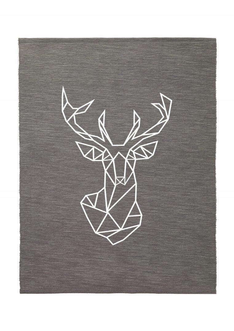 skandynawski jeleń geometryczny obraz obrazek