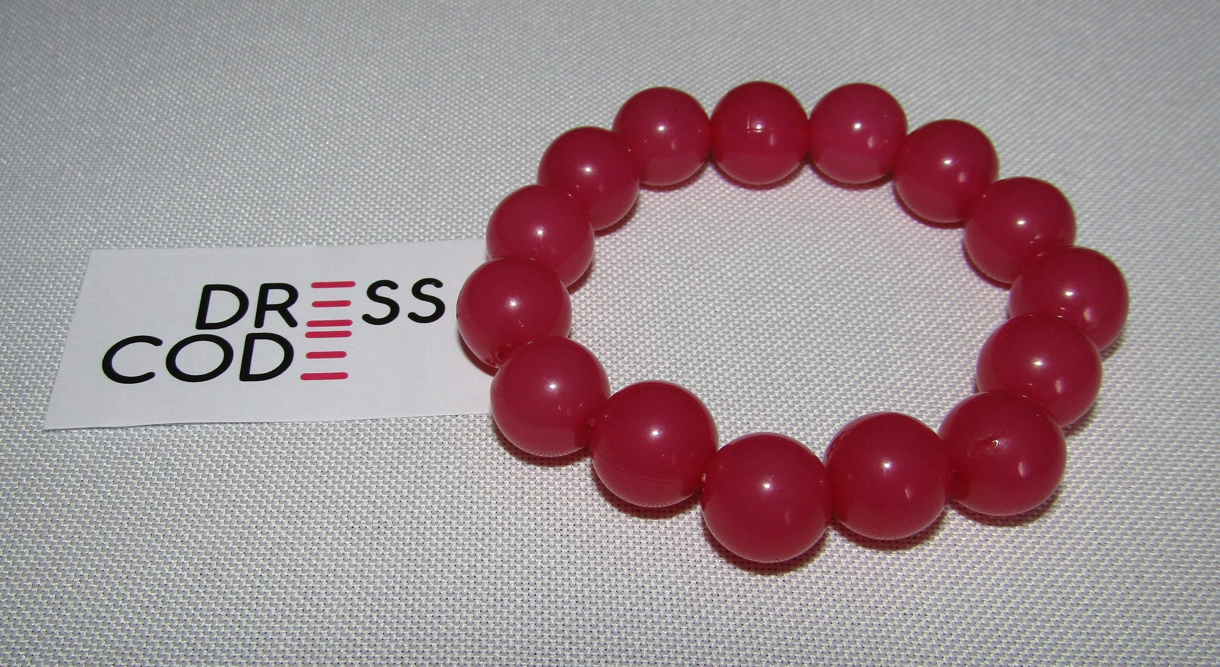 645f9fd4bde646 Bransoletka różowa KORALE koraliki - 7438818987 - oficjalne archiwum ...