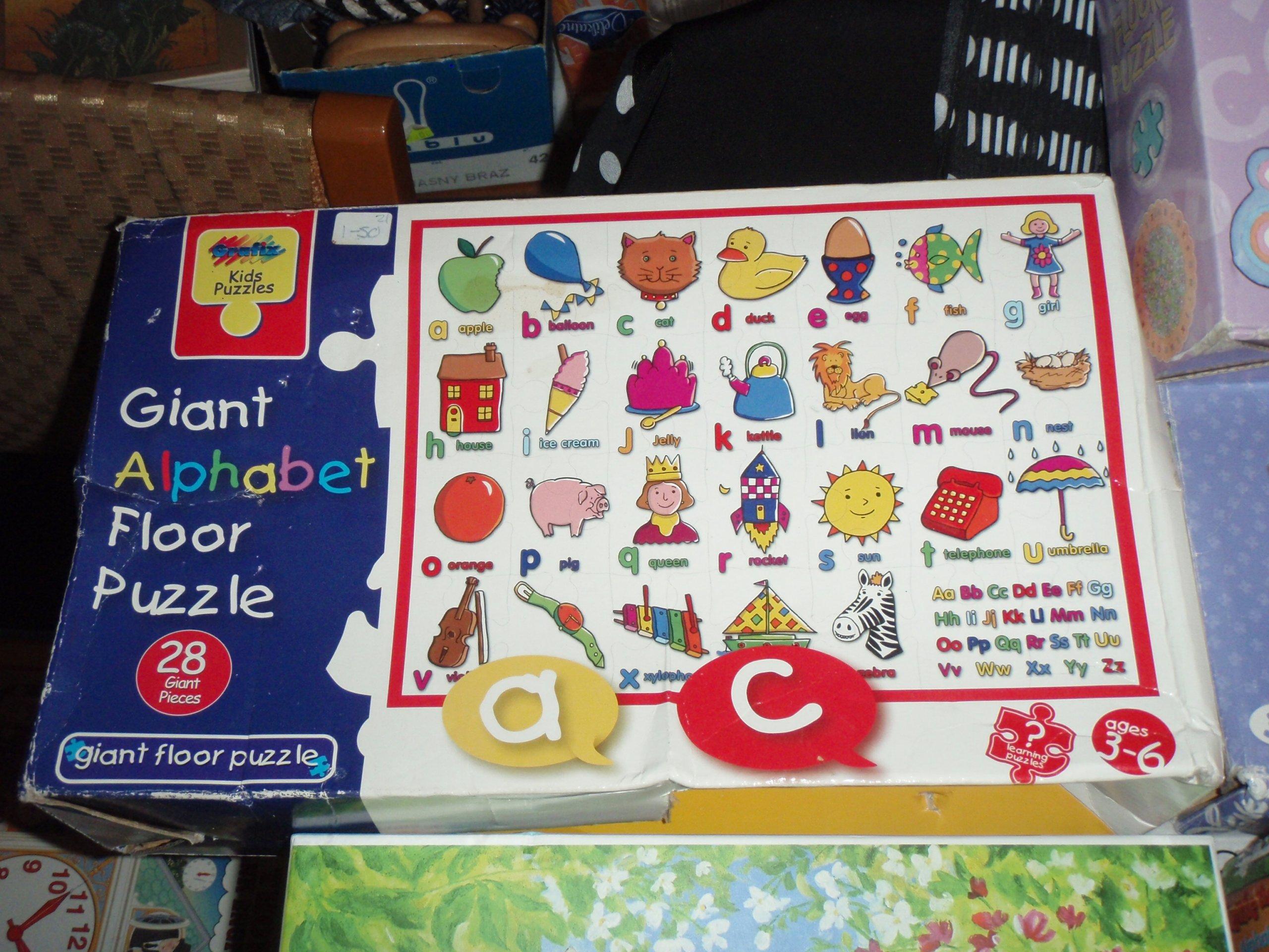 Puzzle Zestaw Z Literkami Dla Dzieci 5 Opak 7146031893