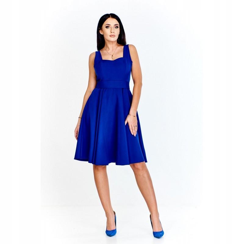 51106b640d Koktajlowa sukienka z dopasowaną górą na szerokich - 7756733200 ...