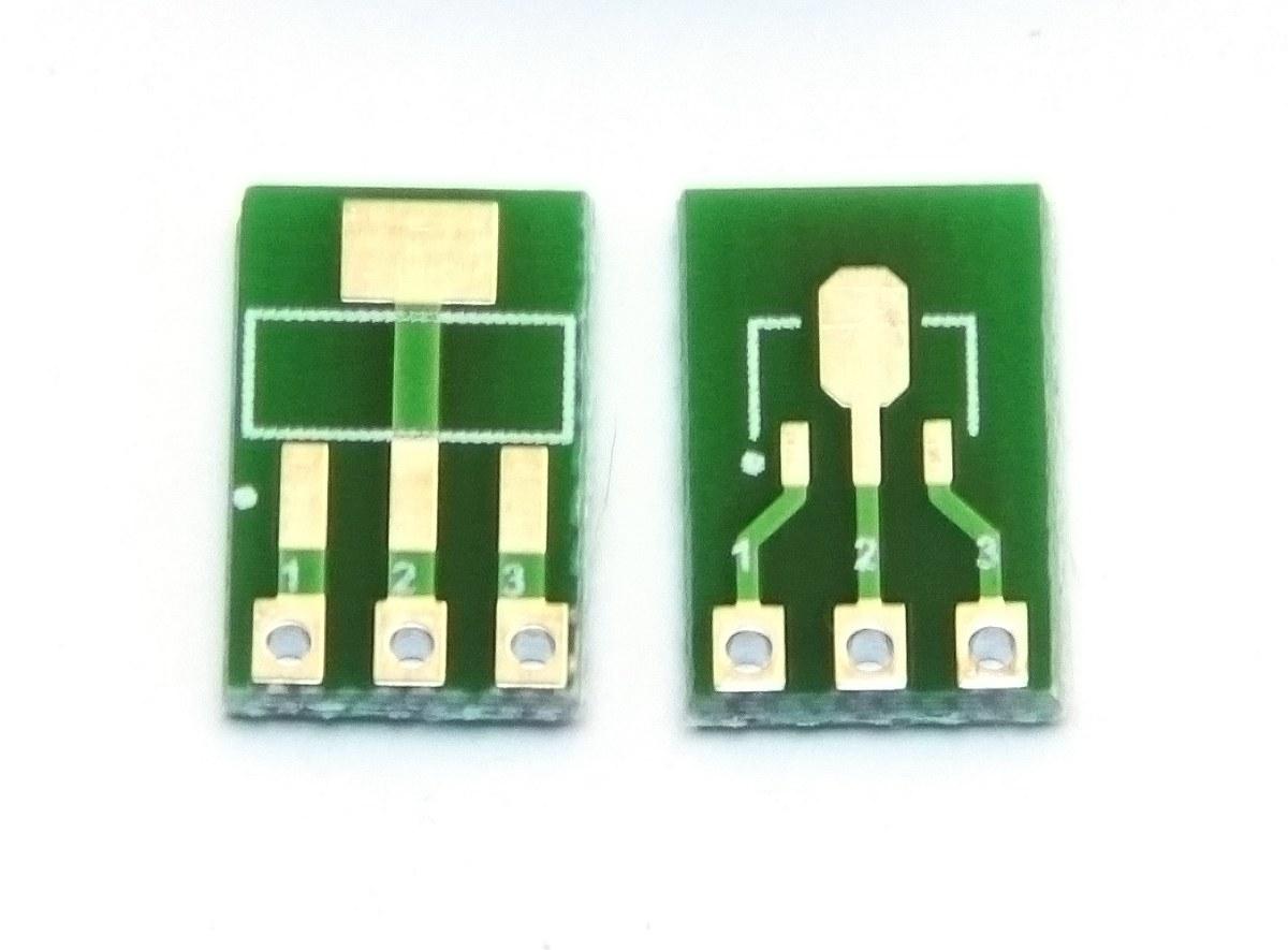 Adapter02 przejściówka SOT223 SOT89  na SIP3