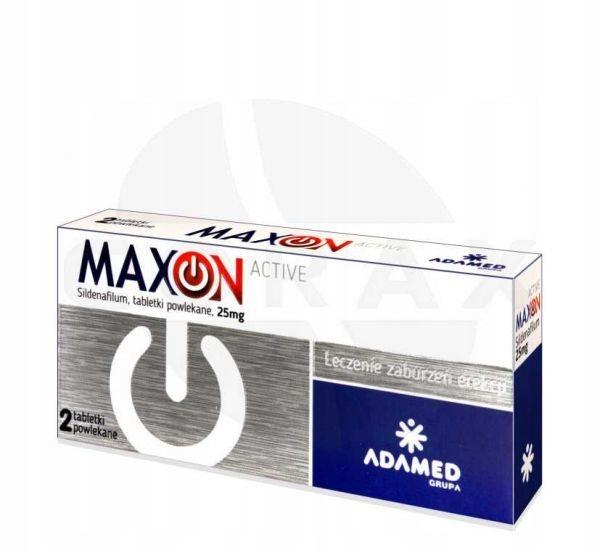 Maxon active 25 mg 2 tabletki na POTENCJE