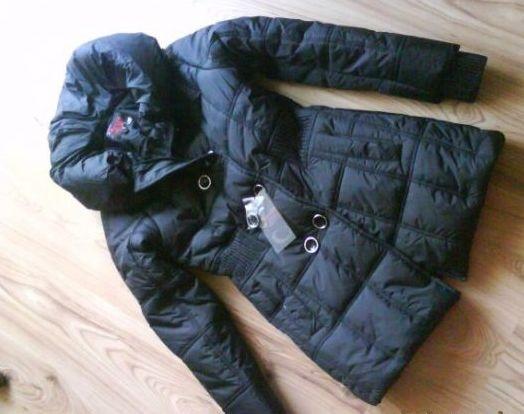 NOWA czarna pikowana kurtka / płaszcz damski M 38