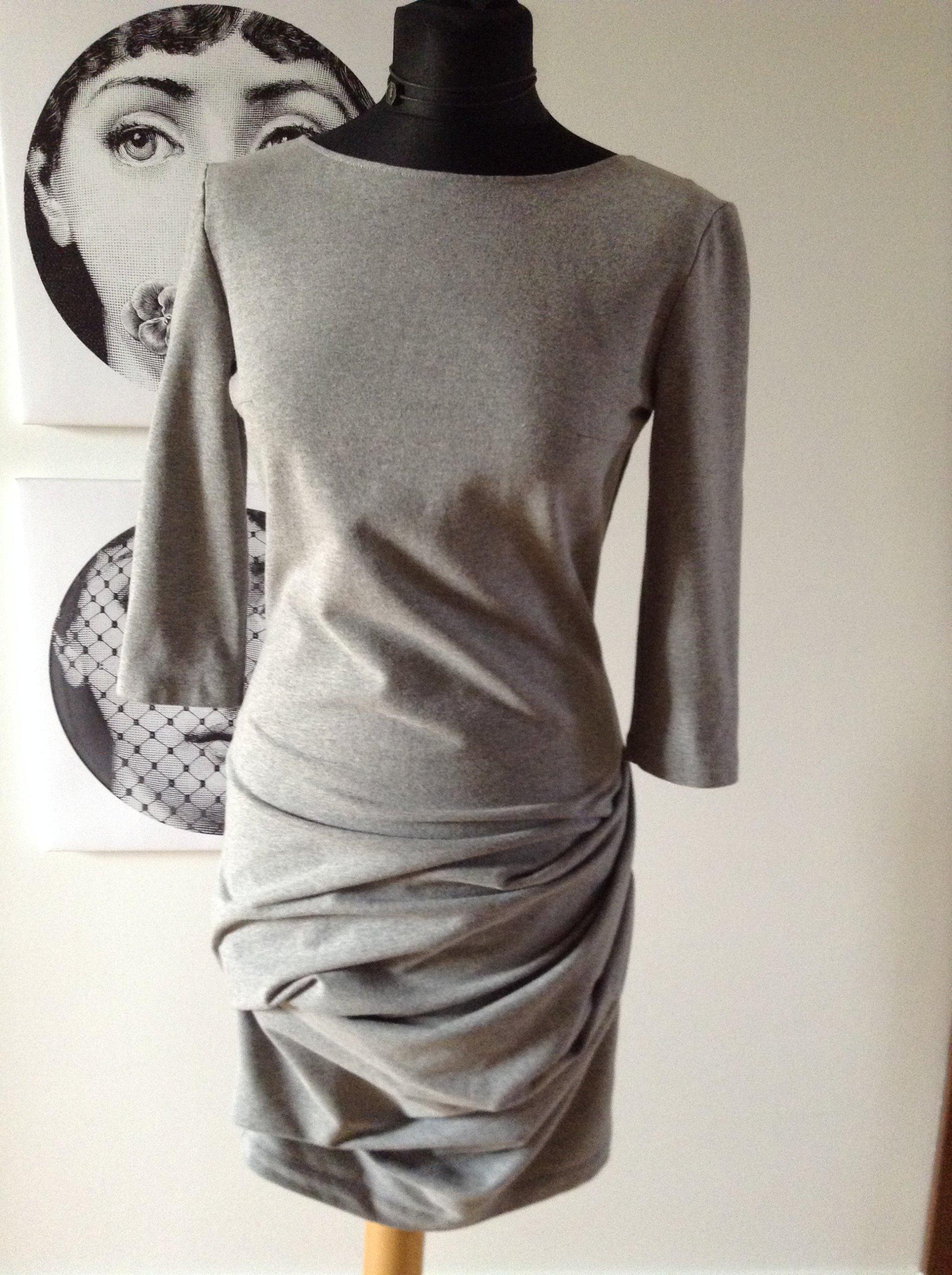 aec89a1ba2 Sukienka szara Bohoboco rozmiar 36 - 7446718844 - oficjalne archiwum ...