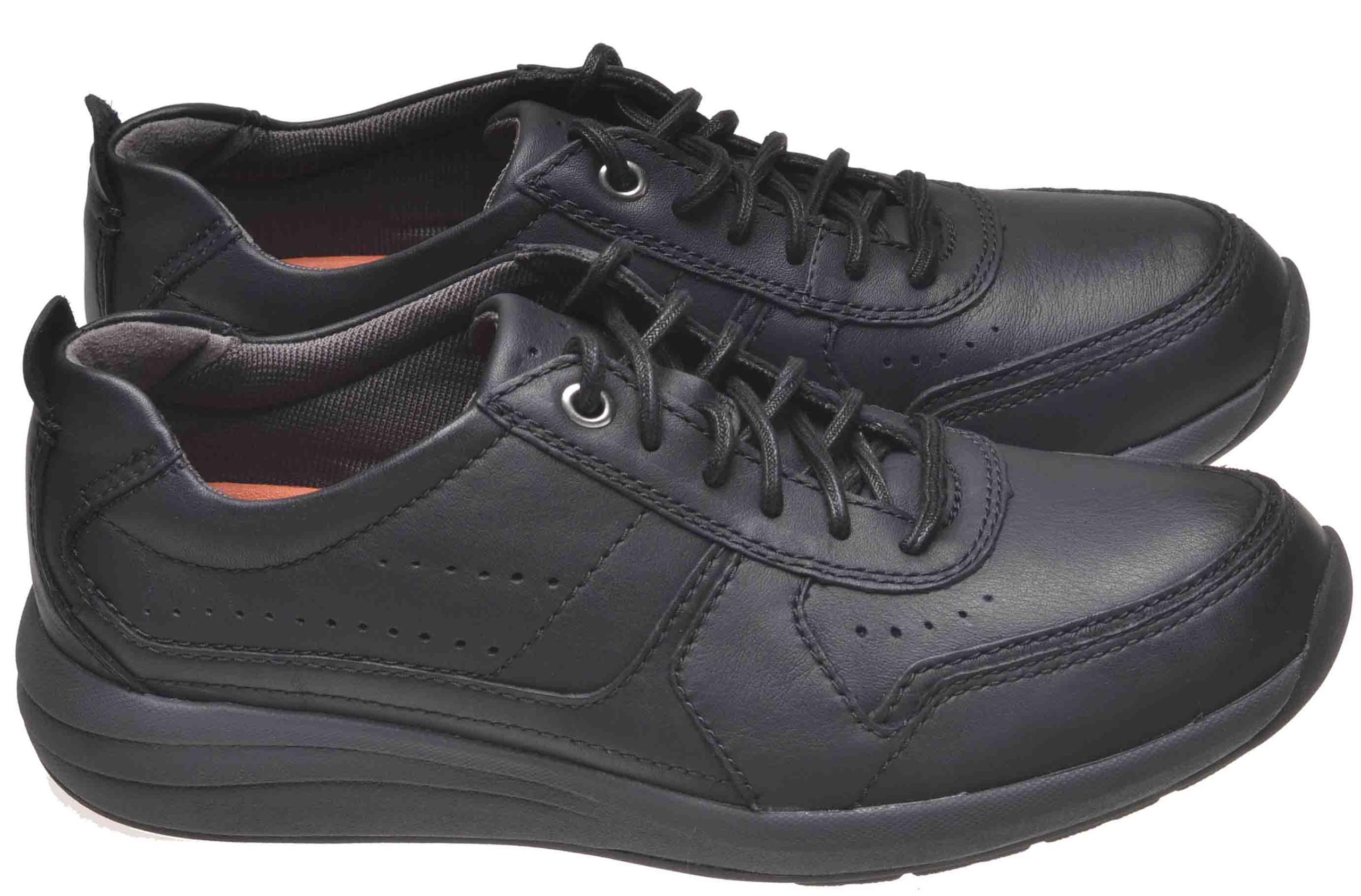 e26397762 WYPRZEDAŻ! CLARKS UN COAST FORM Black Leather 42 - 7447910597 ...