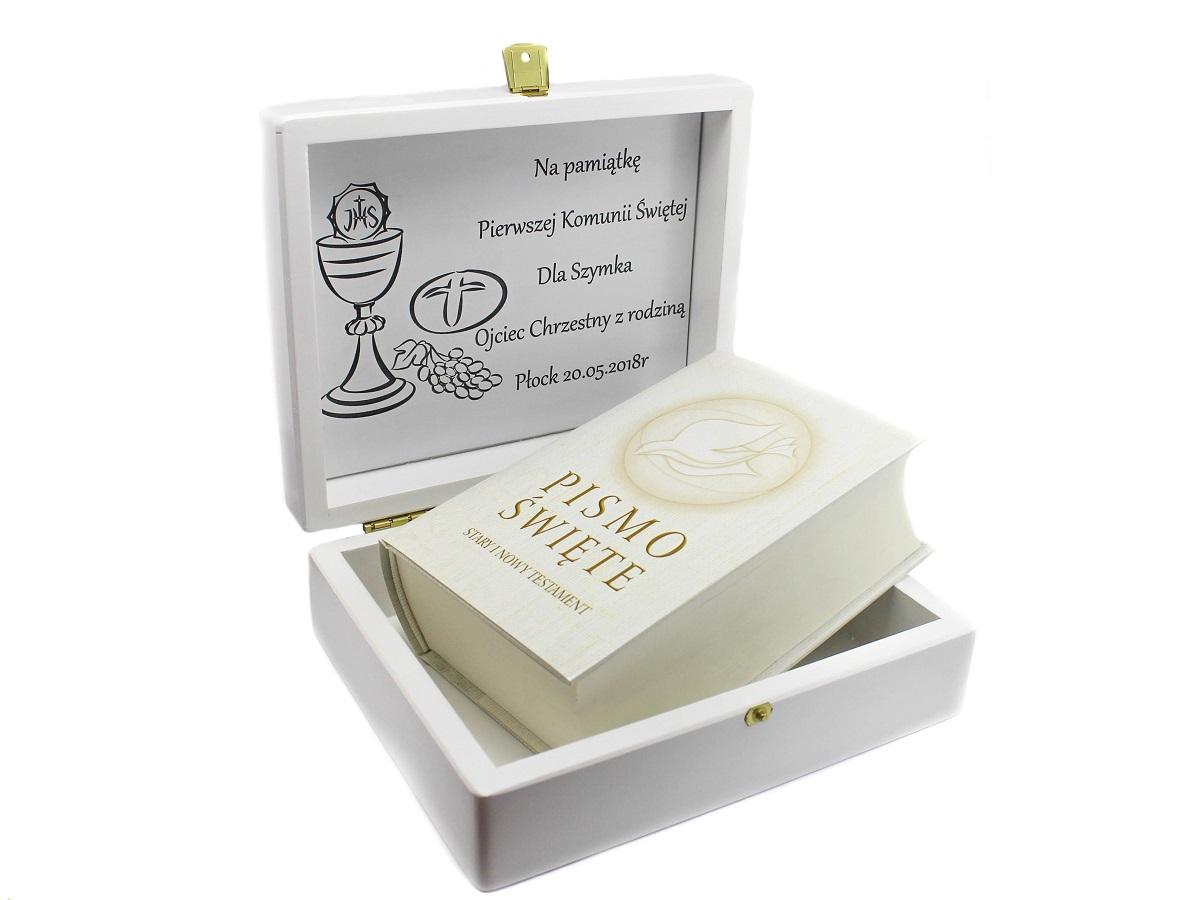 e1b0f2ba7c 09 Pismo Święte Pierwsza Komunia Pamiątka GRAWER - 7281640835 ...