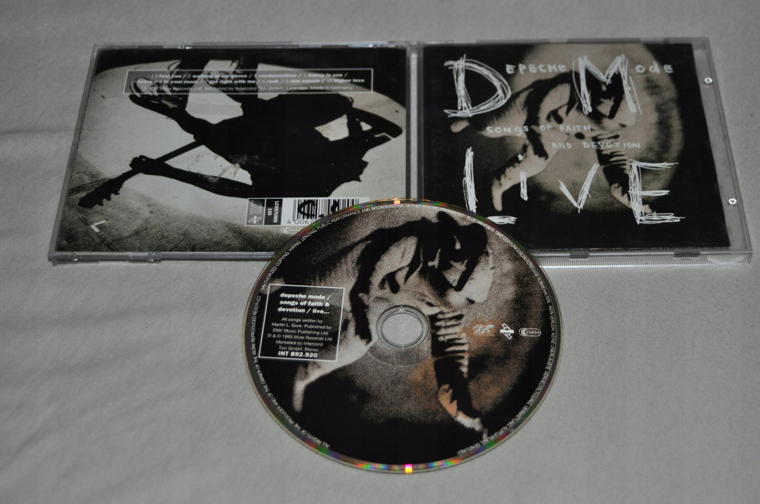 DEPECHE MODE SONGS FAITH DEVOTION LIVE CD