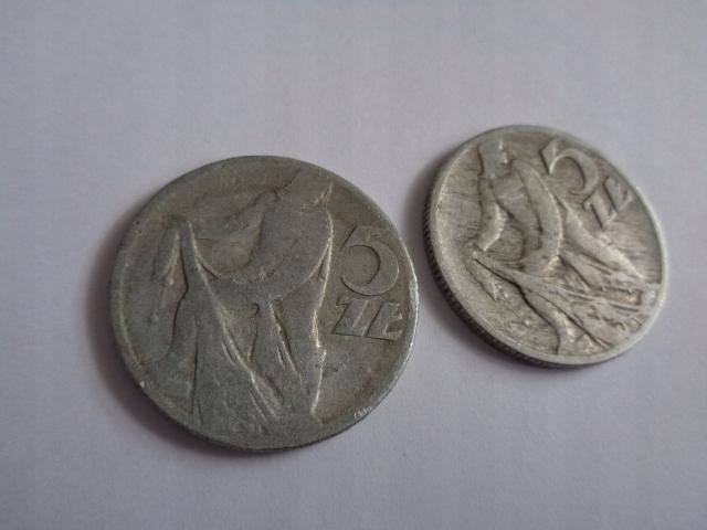 Moneta PRL 5 zł (RYBAK) 1959 X 2 (31)