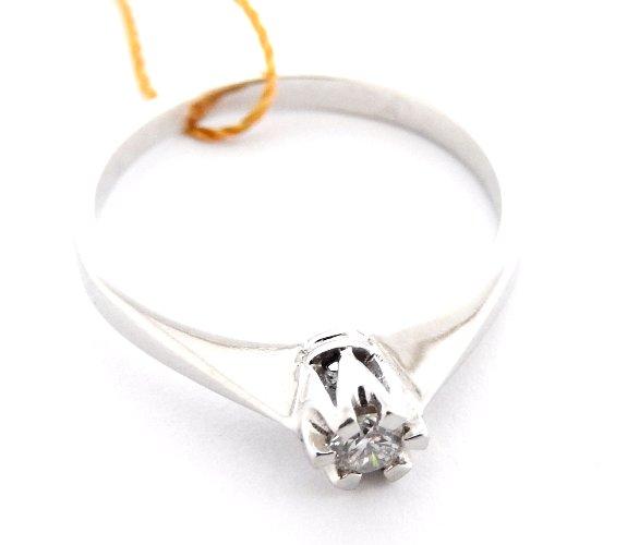 Pierścionek Brylant Białe Złoto Verona 585 R 11 6855985686