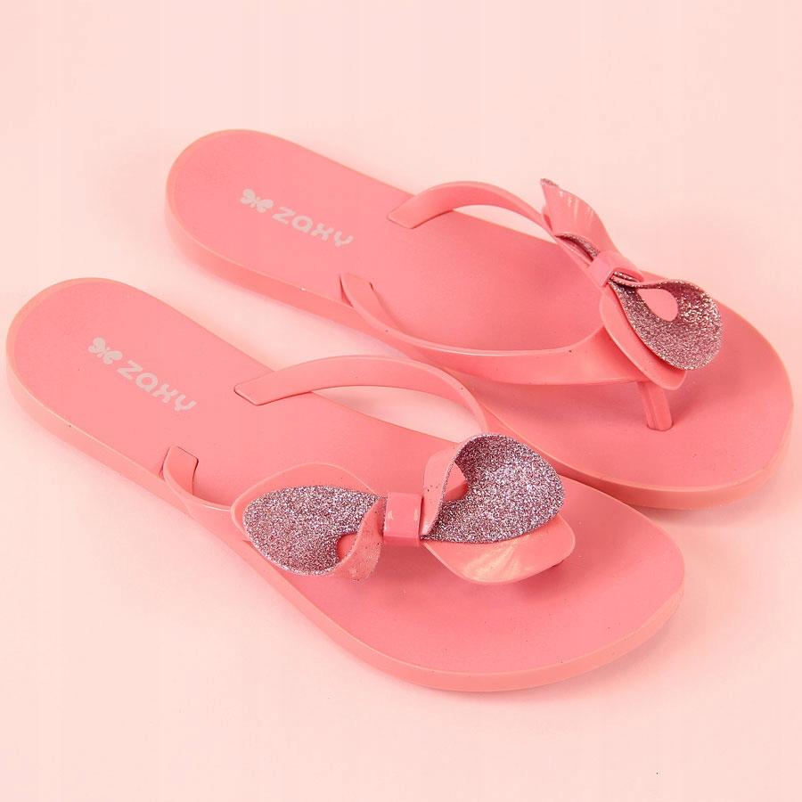 9725e8c76d2fd KLAPKI meliski JAPONKI różowe ZAXY Fresh Trip 36 - 7264455426 ...