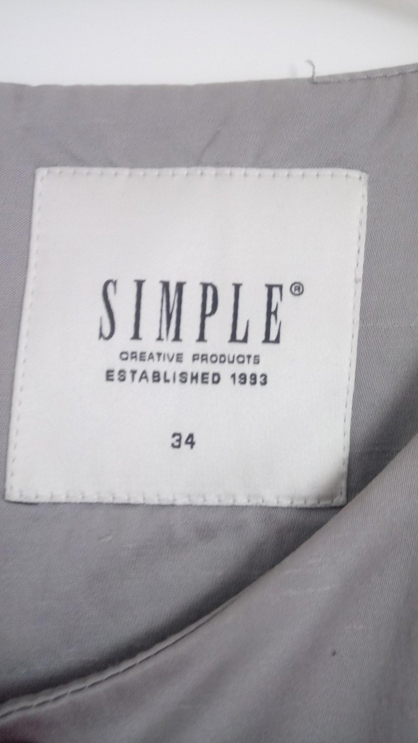 62e3a5489a SIMPLE CREATIVE PRODUCTS SUKIENKA SZARA XS S - 7045063674 ...
