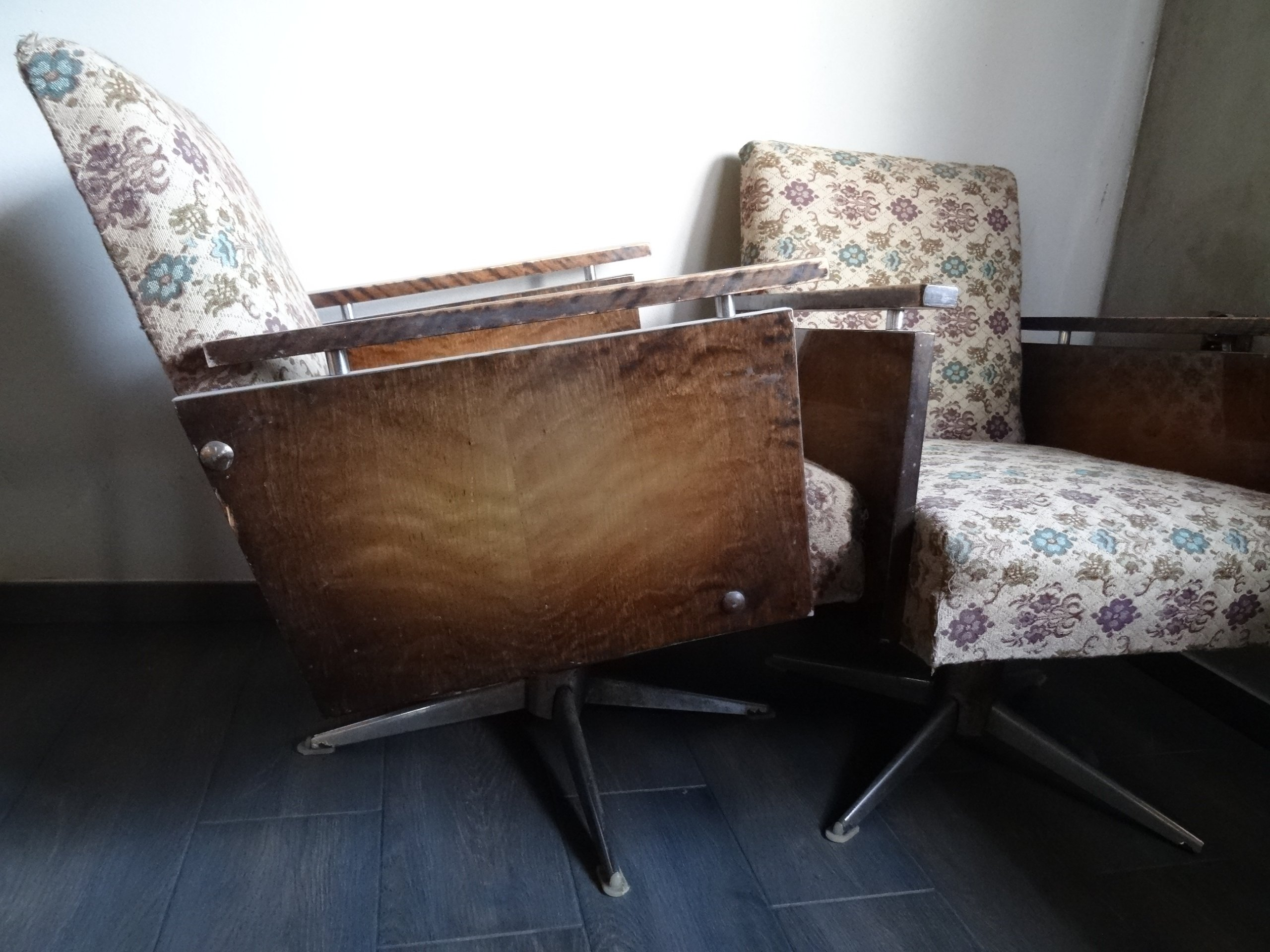 Fotel Obrotowy Prl Vintage Retro Lata 80 Te 7348427186