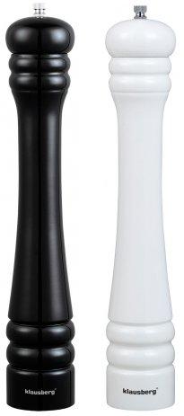 Młynek do pieprzu 40 cm KLAUSBERG biały/czarny