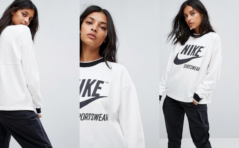 Archiwalne: Bluzy damskie z kapturem z logo Nike kolory S XL