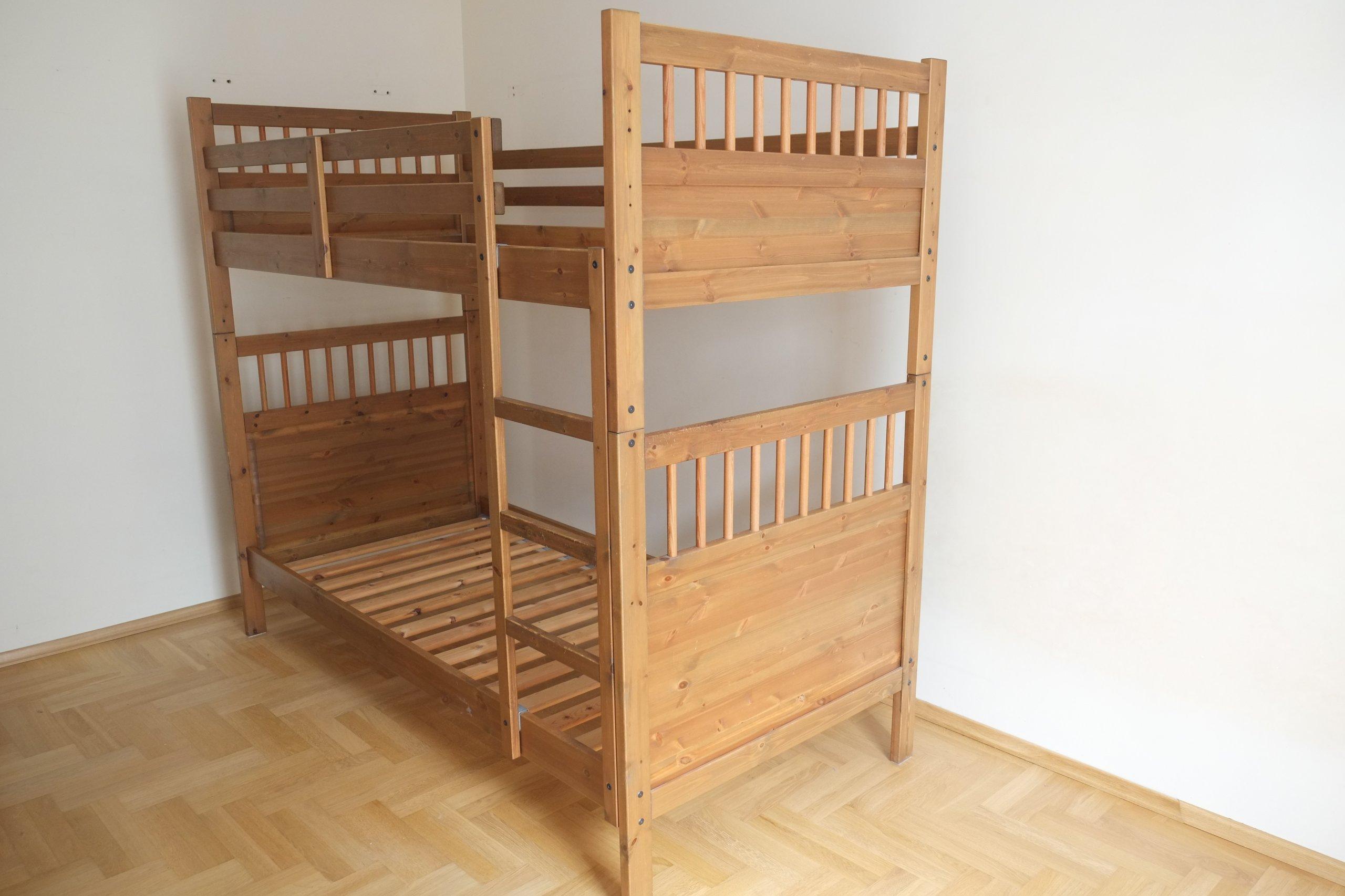 Cudowna Łóżko piętrowe IKEA .. drewniane.. W-wa - 7078401506 - oficjalne TW69