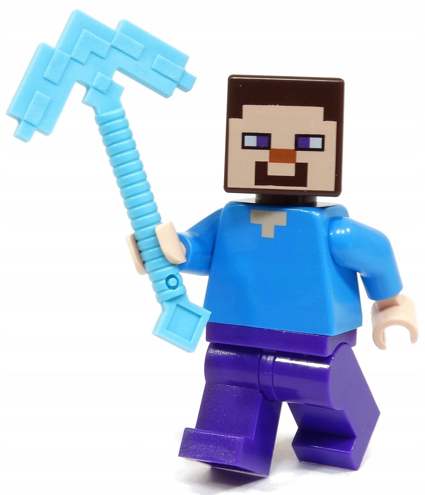 LEGO MINECRAFT FIGURKA STEVE MIN009 KILOF DIAMENT