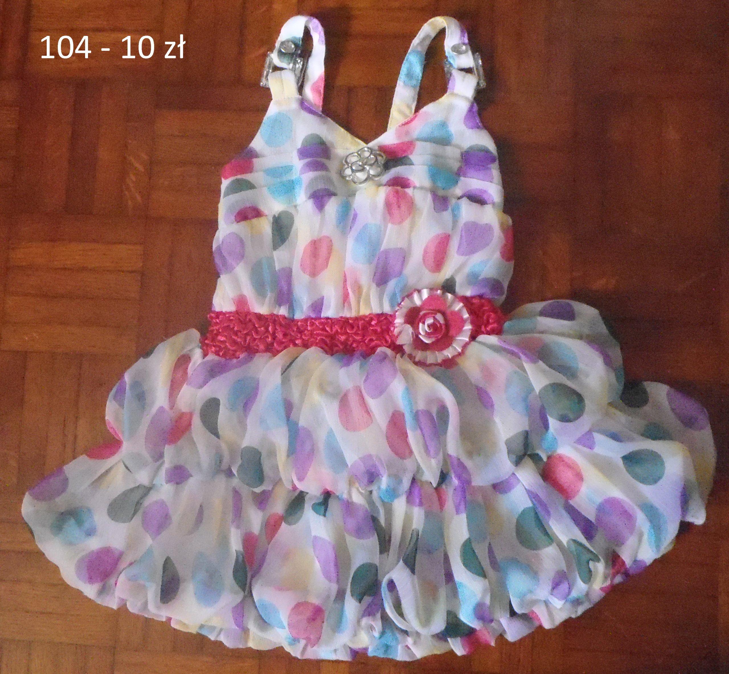 200a90032a Letnie sukienki 104 - 7310063604 - oficjalne archiwum allegro