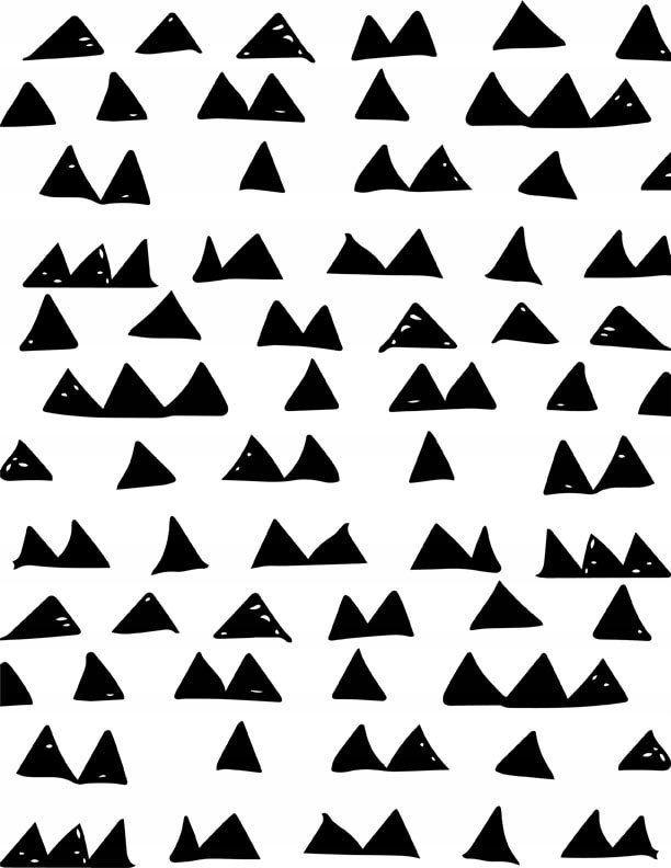 3ad0a1c4 Wzór trójkąty scandi - plakat - 7697451122 - oficjalne archiwum allegro