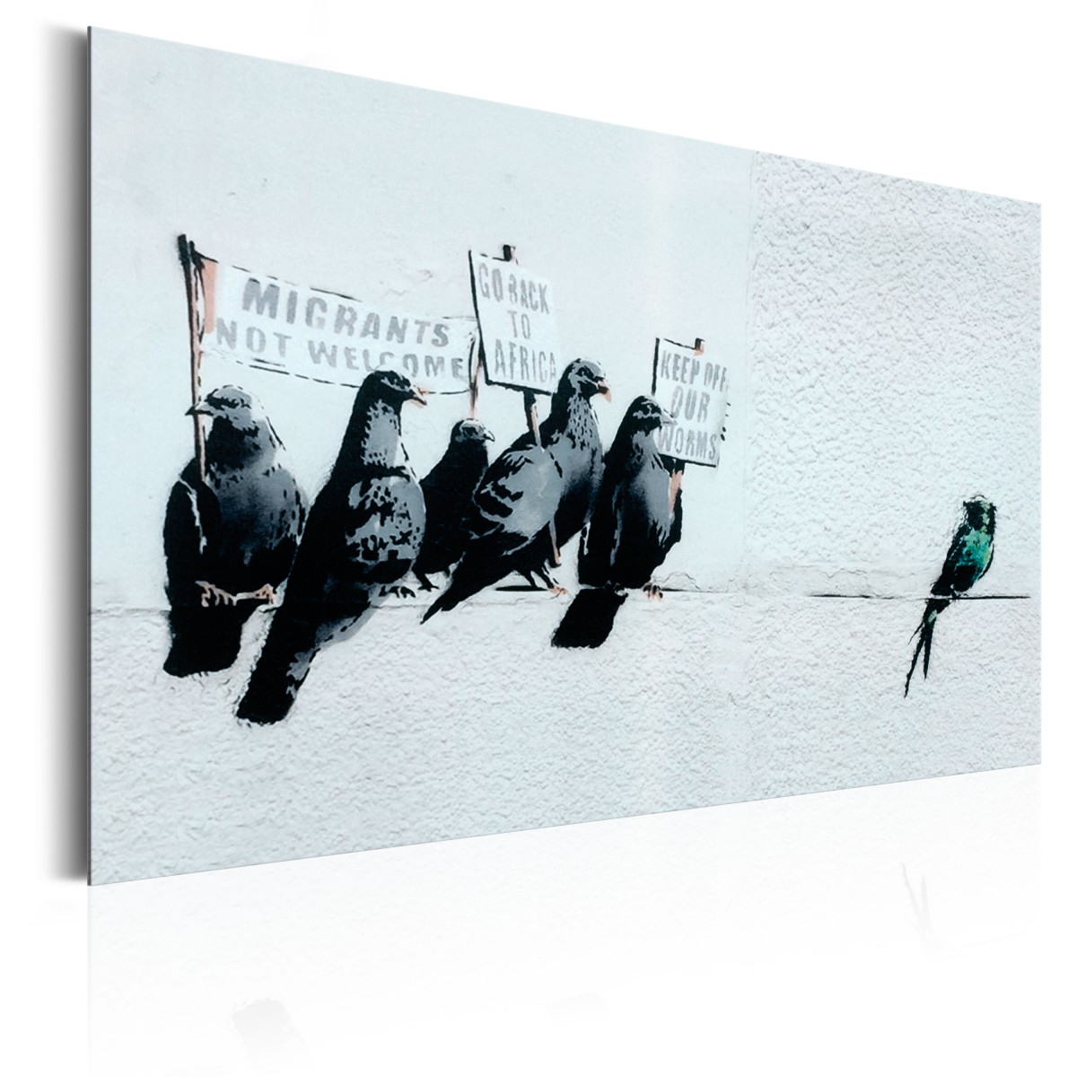Plakat Metalowy Ptaki 46x31 Stare Plakaty 7004117810