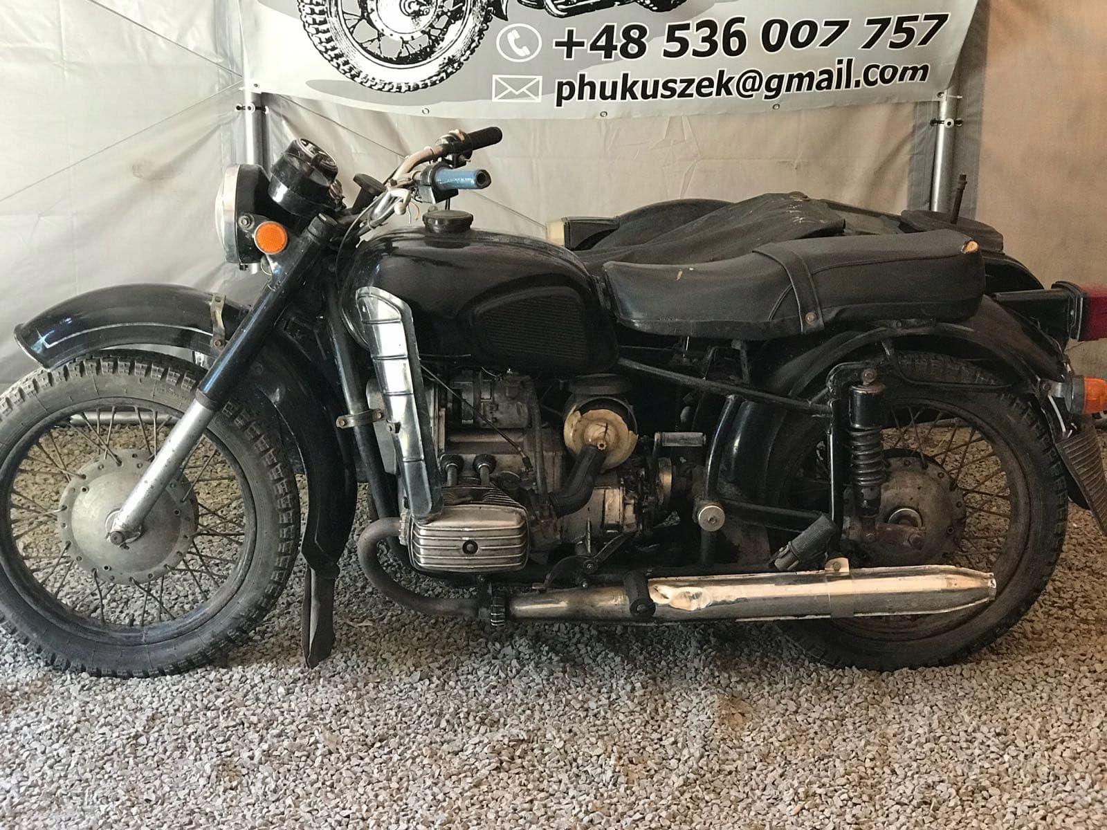 motocykl z koszem dniepr MT11 nie k 750 m72 ural