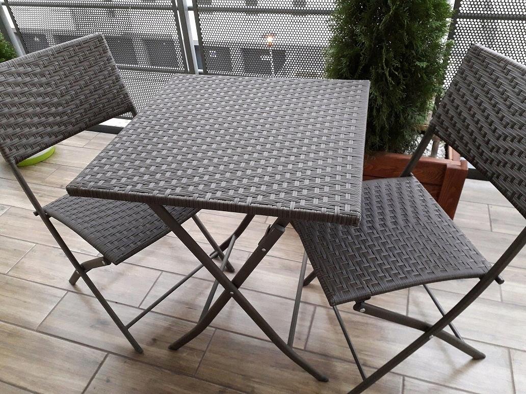 Meble Balkonoweogrodowe Stolik Dwa Krzesła 7564201735
