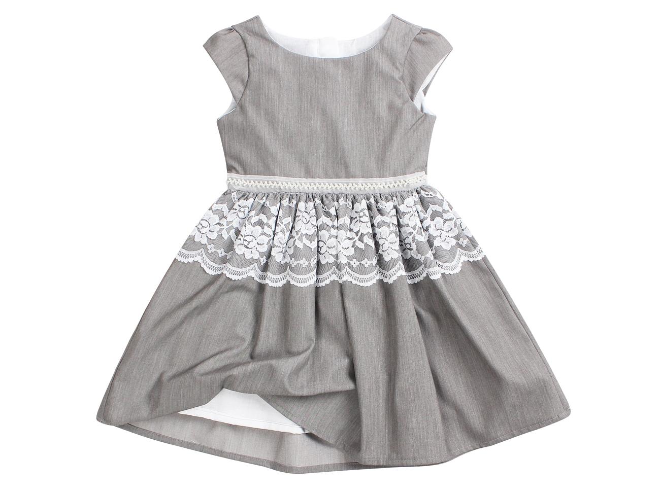 58a58c0b Okolicznościowa sukienka dla dziewczynki 86 szara - 7009333778 ...