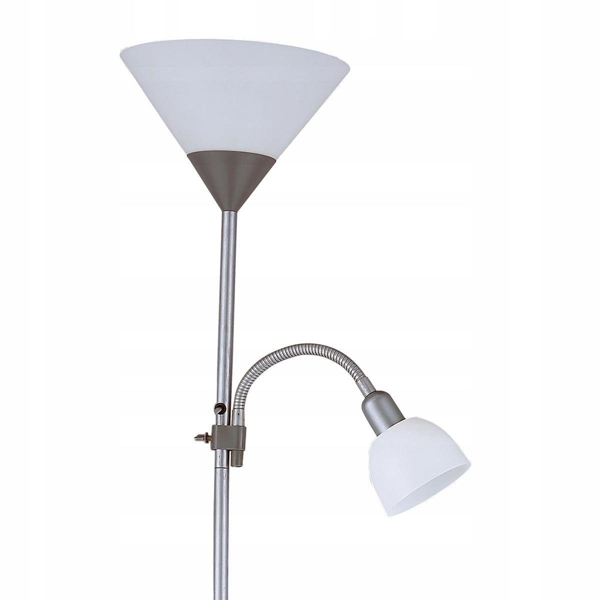 Lampa Podłogowa Stojąca Lampka Do Czytania Metal 7539618189