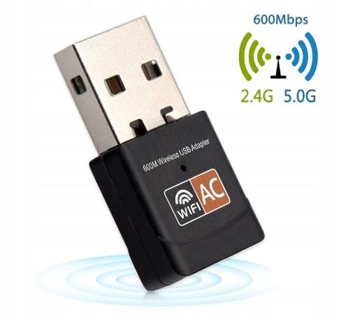 Karta sieciowa WiFi USB REALTEK 8811CU 600Mbps