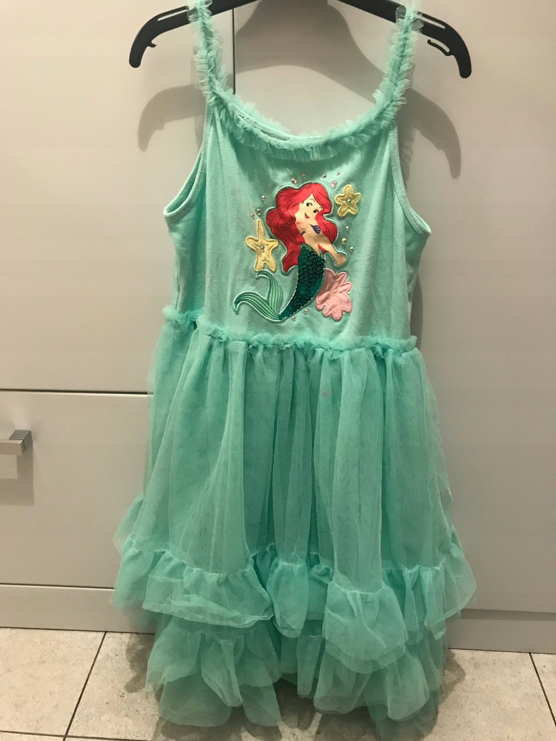 8336d7d0cd Sukienka bal przebranie syrenka Ariel Disney 122 - 7603631925 ...