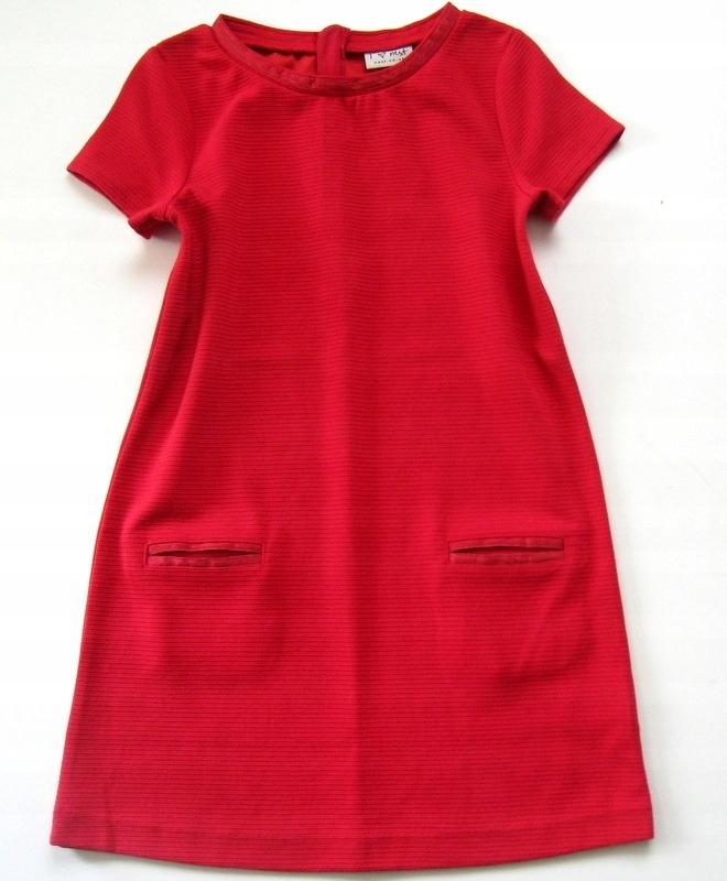 099dfec443 NEXT ELEGANCKA sukienka CZERWONA 8-9 L 128-134 - 7585863855 ...