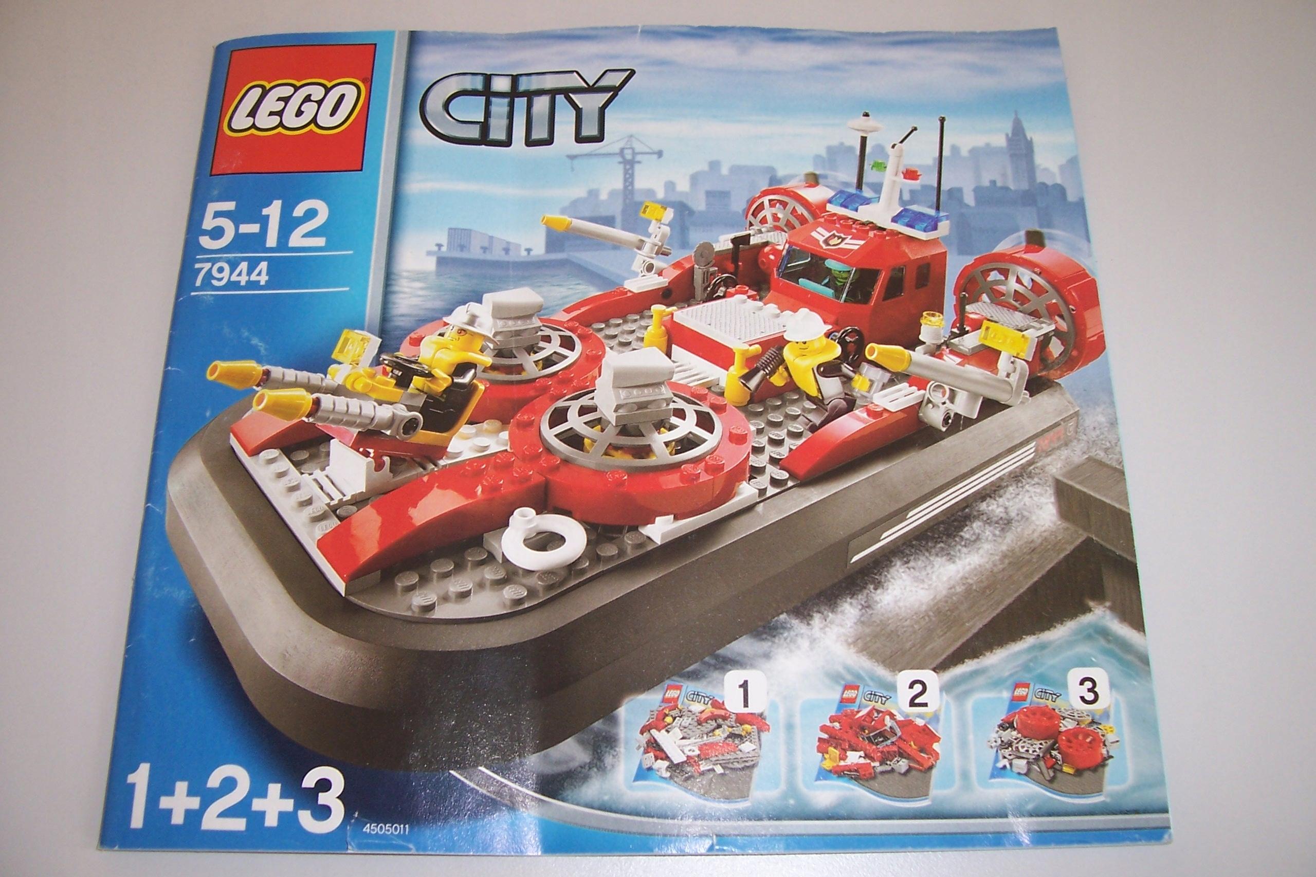 Lego City 7944 Straż Pożarna Poduszkowiec 7624253153 Oficjalne