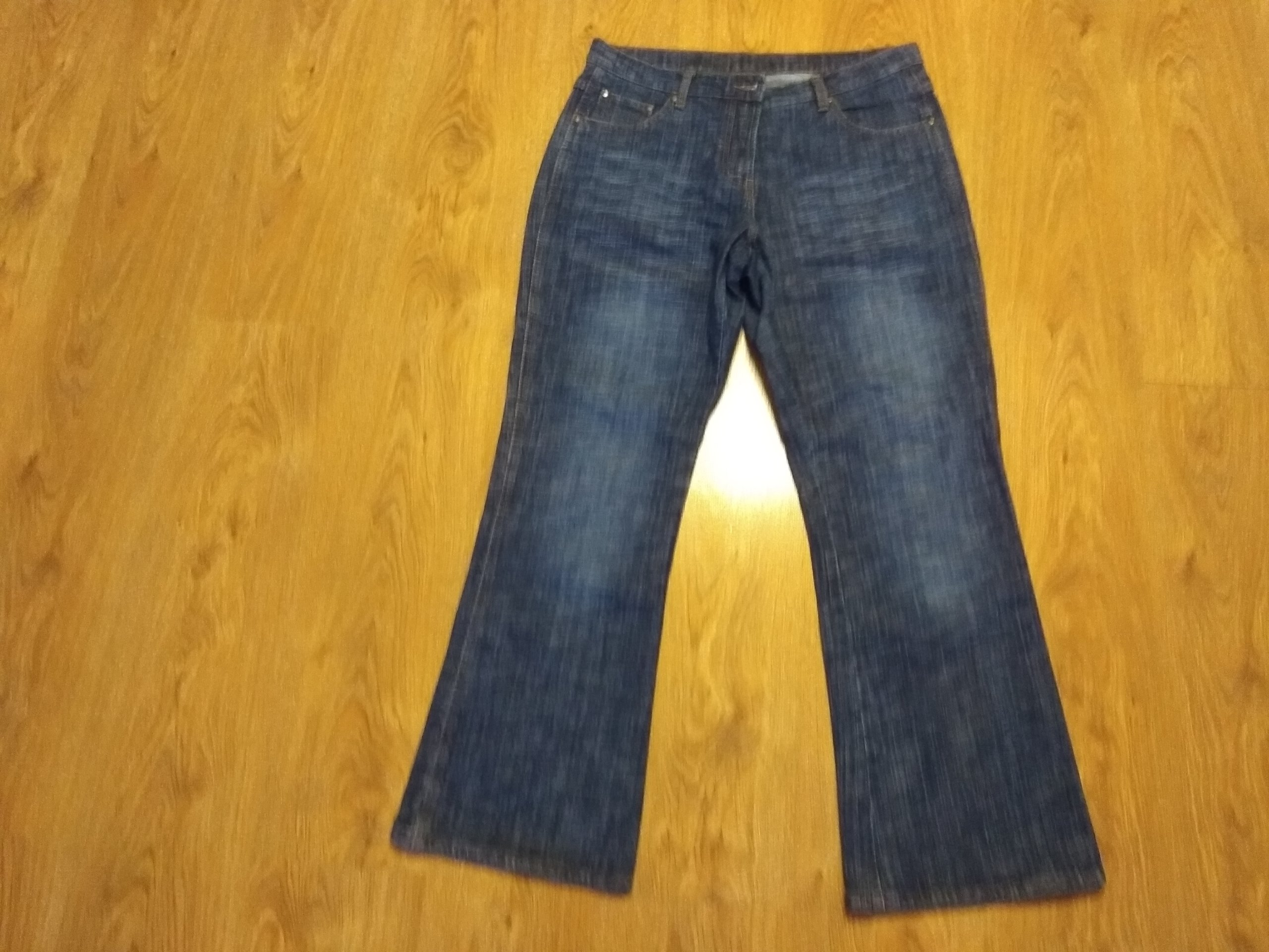 049ff535306c Ciemne jeansy 44 46 - 7297715173 - oficjalne archiwum allegro
