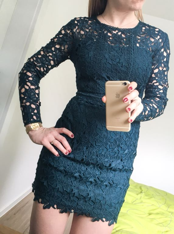 2c7c6b1ec0 ASOS sukienka koronka gipiura UK wesele 500 PLN - 7257139344 ...